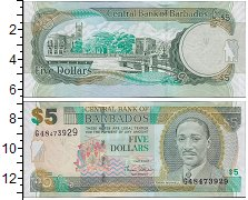 Изображение Банкноты Барбадос 5 долларов 2012  UNC