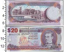 Изображение Банкноты Барбадос 20 долларов 2007  UNC