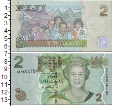 Изображение Банкноты Фиджи 2 доллара 0  UNC
