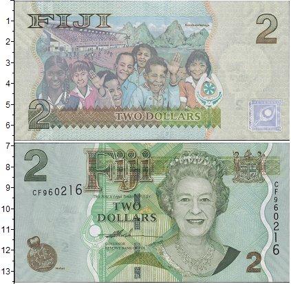 Картинка Банкноты Фиджи 2 доллара  0