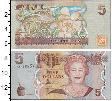 Изображение Боны Фиджи 5 долларов 0  UNC