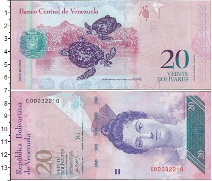 Картинка Боны Венесуэла 20 боливар  2011