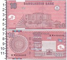 Изображение Банкноты Бангладеш 10 така 2008  UNC