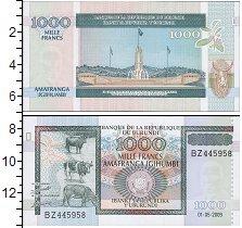 Изображение Боны Бурунди 1000 франков 2009  UNC
