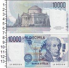 Изображение Боны Италия 10.000 лир 1984  UNC Портрет А. Вольта. П