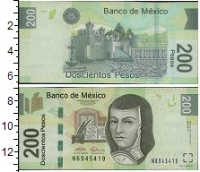 Изображение Банкноты Мексика 200 песо 2007  UNC
