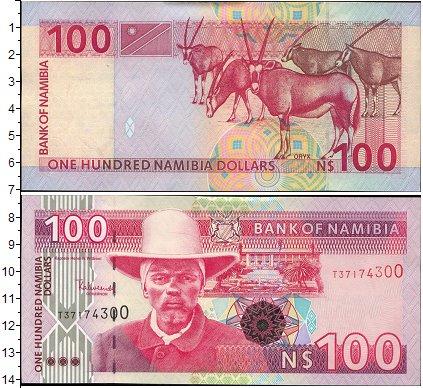 Картинка Боны Намибия 100 долларов  0