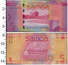 Изображение Банкноты Самоа 5 долларов 0  UNC Пейзаж. Резиденция С