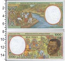 Изображение Боны КФА 1000 франков 0  UNC Центральная. Портрет