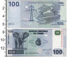 Изображение Банкноты Конго 100 франков 2007  UNC