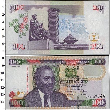 Картинка Банкноты Кения 100 шиллингов  2010