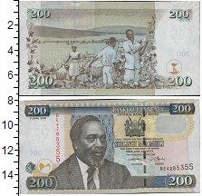 Изображение Боны Кения 200 шиллингов 2010  UNC Портрет М. Д. Кениат
