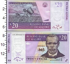 Изображение Банкноты Малави 20 квач 2001  UNC