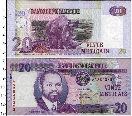 Картинка Боны Мозамбик 20 метикаль  2011