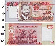 Изображение Банкноты Мозамбик 100 метикаль 2011  UNC Портрет С.Машела. Жи