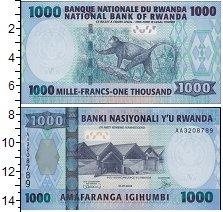 Изображение Боны Руанда 1000 франков 2008  UNC Nasiyonali. Обезьяна