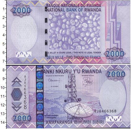 Картинка Боны Руанда 2.000 франков  2007