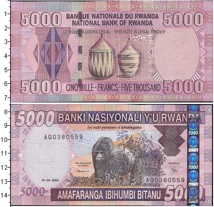 Картинка Боны Руанда 5.000 франков  2004