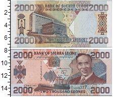 Изображение Боны Сьерра-Леоне 2000 леоне 2003  UNC Портрет И.Т.А. Велле