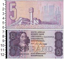 Изображение Боны ЮАР 5 ранд 0   Портрет Я. Ван Рибек