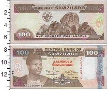 Изображение Банкноты Свазиленд 100 эмалангени 1996   Портрет короля Мсват