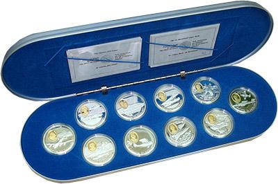 Изображение Подарочные наборы Канада Воздушные силы Канады времен Второй Мировой Войны (1990-1994гг.) 0 Серебро Proof Набор посвящен возду