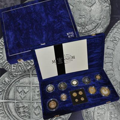 """Изображение Подарочные монеты Великобритания Миллениум 2000 Серебро Proof """"Подарочный набор по"""
