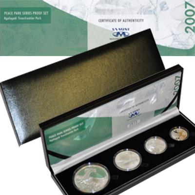 Изображение Подарочные монеты ЮАР Парк защиты животных 2007 Серебро Proof