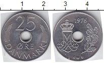 Изображение Мелочь Дания 25 эре 1976 Медно-никель AUNC