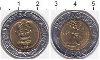 Изображение Монеты Сан-Марино 500 лир 1995 Биметалл  ФАО