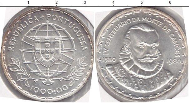 Картинка Мелочь Португалия 1.000 эскудо Серебро 1980