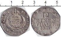 Изображение Монеты Саксония 1/12 талера 1810 Серебро