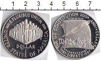 Изображение Мелочь США 1 доллар 1987 Серебро  200- летие конституц