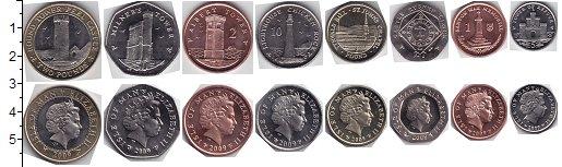 Изображение Наборы монет Остров Мэн Остров Мэн 2008 2008   В наборе 8 монет ном