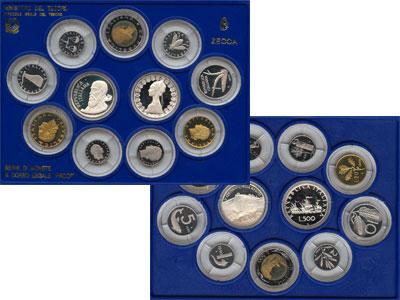 Изображение Подарочные монеты Италия 500-летие рождения Тициана 1990  Proof