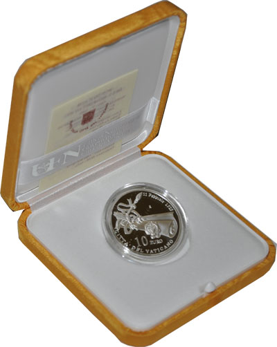 Изображение Подарочные наборы Ватикан 80-летие основания Ватикана 2009 Серебро Proof