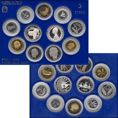 Изображение Подарочные наборы Италия Регулярный выпуск 89 1989  Proof