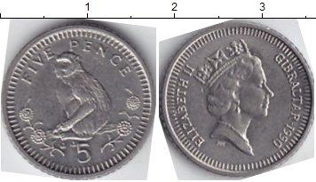 Картинка Мелочь Гибралтар 5 пенсов Медно-никель 1989