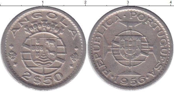Картинка Мелочь Ангола 2 1/2 эскудо Медно-никель 1953