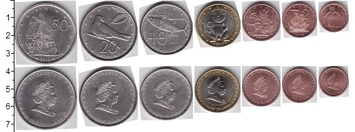 Изображение Наборы монет Острова Кука Острова Кука 2010 2010  UNC- В наборе 7 монет ном