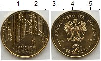 Изображение Мелочь Польша 2 злотых 2008  UNC- Монета польского мон
