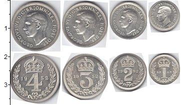 Изображение Наборы монет Великобритания Маунди-сет 1937 (Благотворительный набор) 1939 Серебро AUNC
