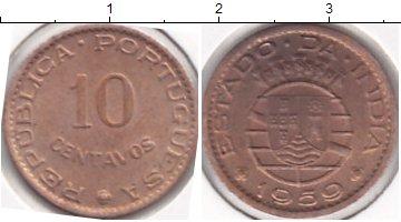 Картинка Мелочь Индия 10 сентаво Медь 1961