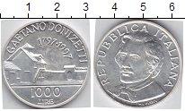 Изображение Монеты Италия 1000 лир 1997 Серебро UNC Гаетано Доницетти