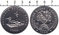 Изображение Мелочь Босния и Герцеговина 500 динар 1996 Медно-никель UNC Утка с утятами