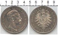 Изображение Монеты Пруссия 5 марок 1888 Серебро XF A. Вильгельм II. Ста