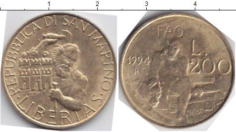 Картинка Мелочь Сан-Марино 200 лир  1994