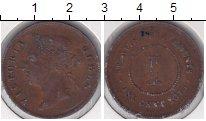 Изображение Монеты Стрейтс-Сеттльмент 1 цент 1875 Медь  Виктория