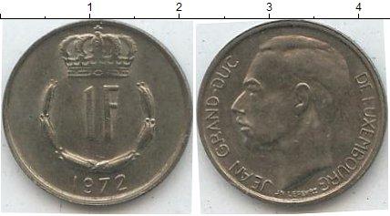 Картинка Мелочь Люксембург 1 франк Медно-никель 1972