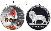 Изображение Монеты Конго 10 франков 2006 Серебро Proof